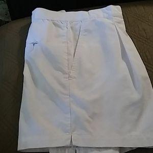 Nike white dri fit shorts